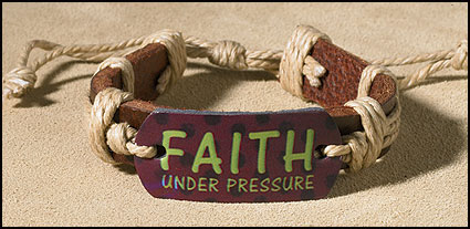 Faith Under Pressure Inspirational Youth Bracelet