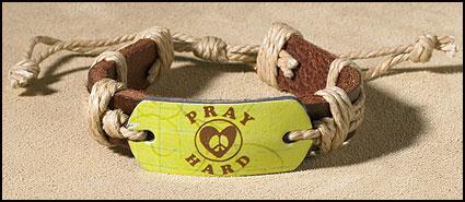 Pray Hard Inspirational Youth Bracelet
