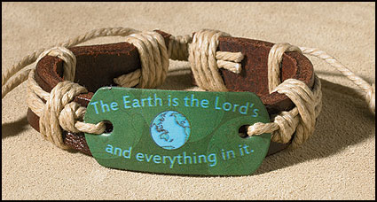 The Earth is the Lord's Inspirational Youth Bracelet