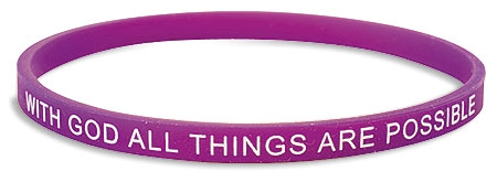 With God, All Things are Possible Faith Bracelet - 24/pk