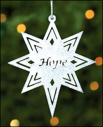 Hope Bethlehem Star Ornament
