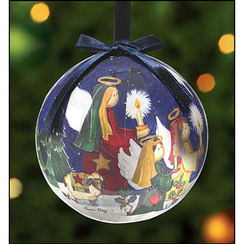 O Come, O Come Emmanuel Ball Shaped Ornament