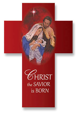 Christ the Savior is Born, Luke 2:11 Christmas Cross