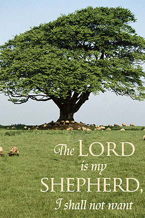 The Lord is My Shepherd Canvas Banner