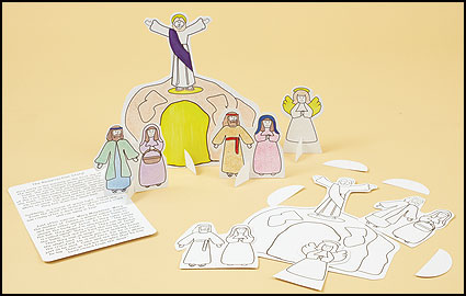 Color Your Own Standing Resurrection Set