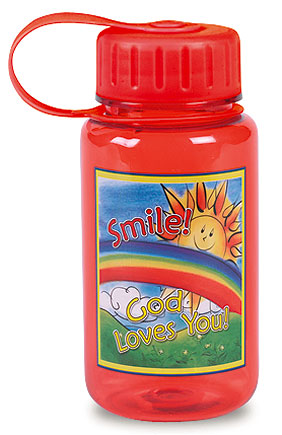 Smile, God Loves You Water Bottle