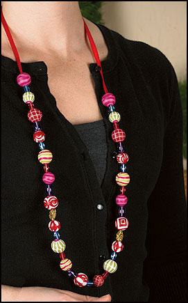 Beaded Necklace - 4/pk