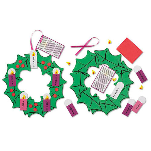 Hanging Advent Wreath Craft Kit