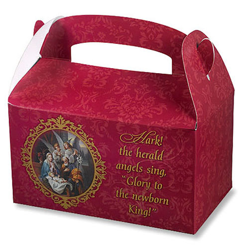 Nativity Prayer Christmas treat Boxes - 36/pk