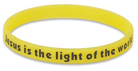 Jesus is the Light of the World Neon Wristband - 24/pk