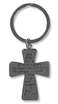 Serenity Cross Key Chain - 12/pk