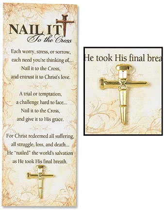 Nail It To the Cross Lapel Pin with Bookmark