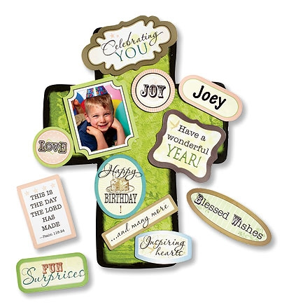 Magnetic Birthday Cross with Magnet Set - 2 sets/pk