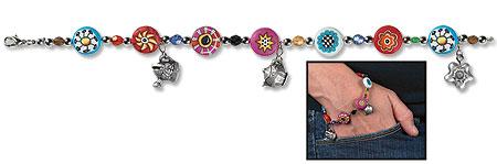 Beaded Charm Bracelet - 6/pk
