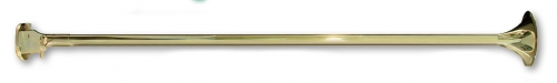 Brass Herald Trumpet Banner Pole