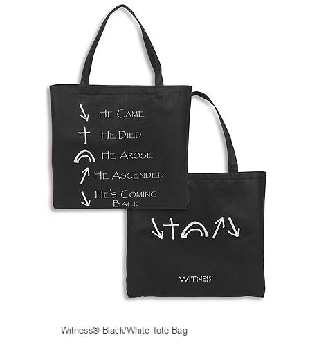 Witness Black/White Tote Bag