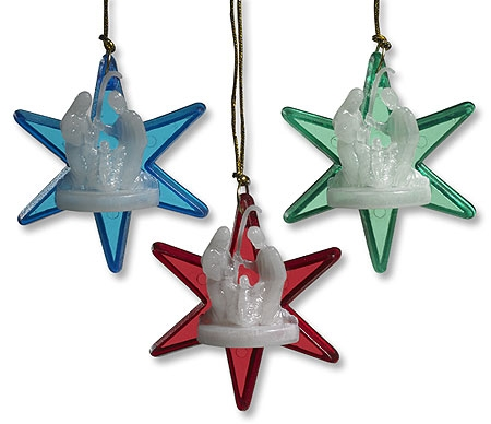 Nativity Star Ornament