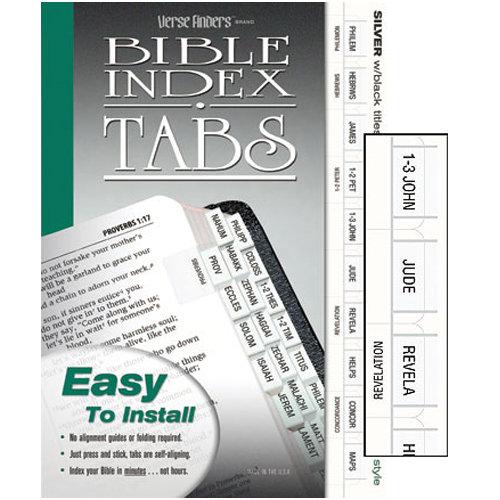 Slim Line Silver Bible Tabs