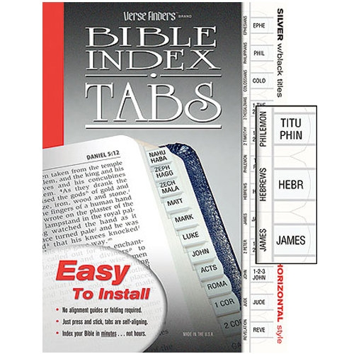 Silver Bible Tabs