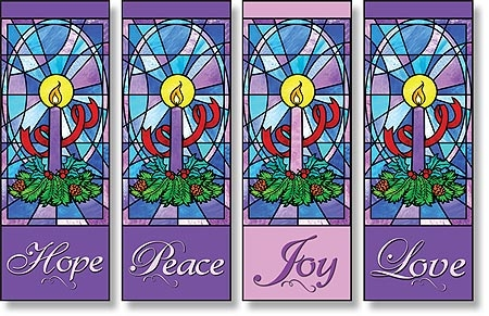 Celebrate Advent Series X-Stand Banners - Set of 4