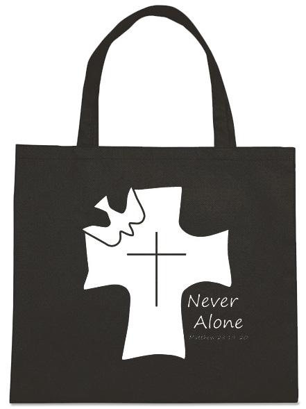 Never Alone Dove Cross Tote Bag