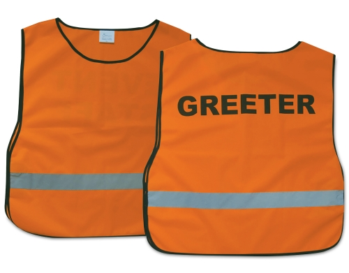 Greeter Vest: Orange