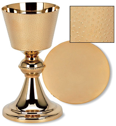 Textured Chalice with Paten