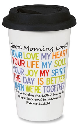 Morning Prayer Coffee Tumbler with Lid - 4/pk