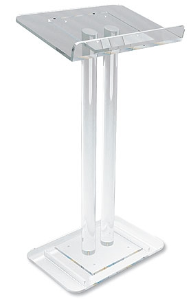 Two Column Acrylic Lectern