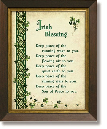 Irish Blessing Framed Tabletop