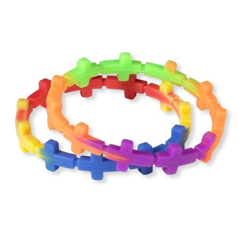 Silicone Cross Bracelet - 24/pk