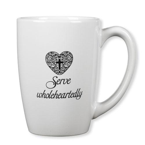 Serve Wholeheartedly Mug with Bookmark Set - 4/pk
