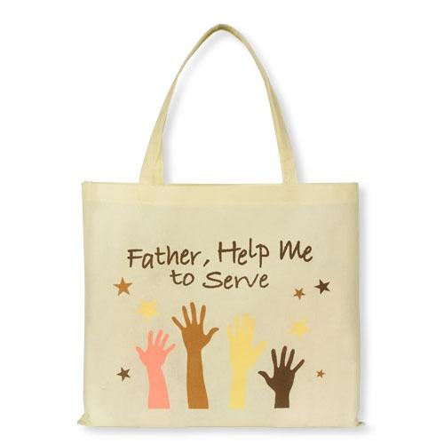 Father Help Me to Serve Tote Bag - 12/pk