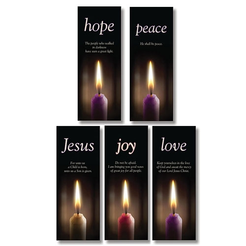 Advent Candle Series X-Stand Banners - Set of 5