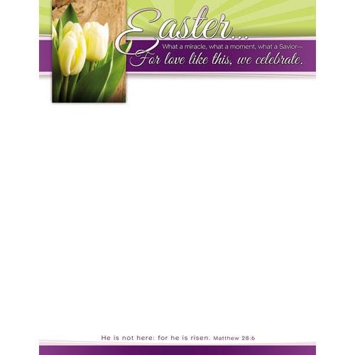 Easter Miracle Letterhead