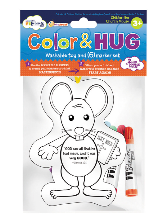 Color and Hug Chitter the Church Mouse