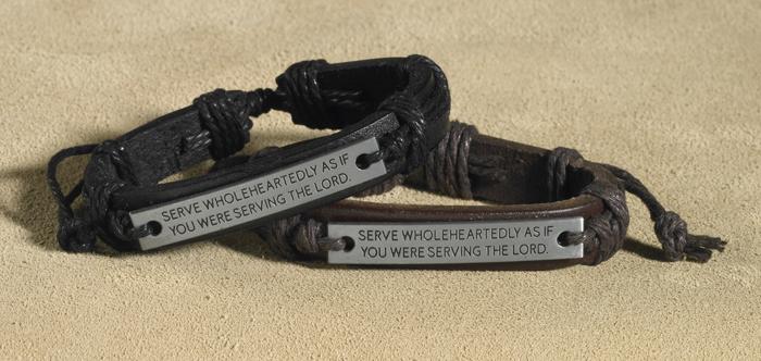 Serve Wholeheartedly Leather Bracelet Assortment - 2/pk