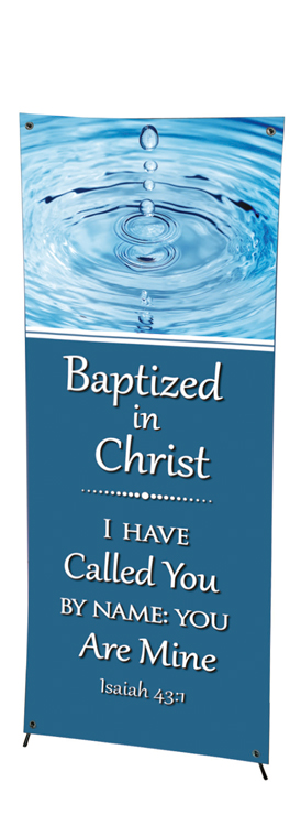 Church Event Series X-Stand Banner - Baptism