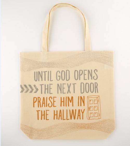 Until God Opens the Next Door Tote Bag - 12/pk