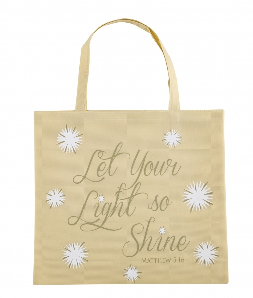 Let Your Light so Shine Glow in the Dark Tote Bag - 12/pk