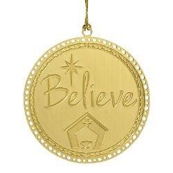 Believe Ornament - 24/pk