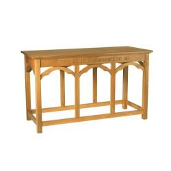Gothic Collection Communion Table - Medium Oak Stain