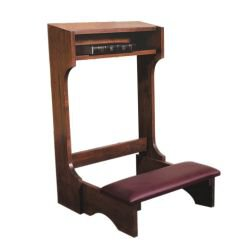 Padded Kneeler - Walnut Stain