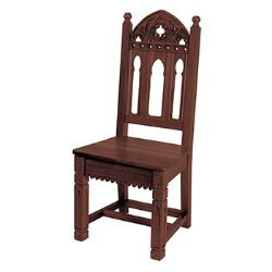 Gothic Collection Side Chair - Walnut Stain