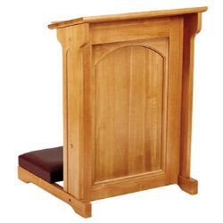 Abbey Collection Padded Kneeler - Medium Oak Stain