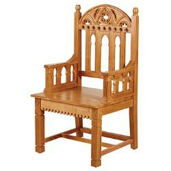 Gothic Collection Celebrant Chair - Medium Oak Stain