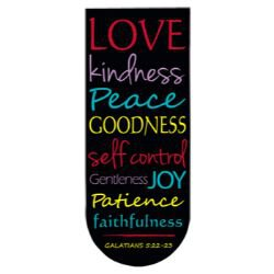 Fruit of the Spirit Magnetic Folding Bookmark - 24/pk