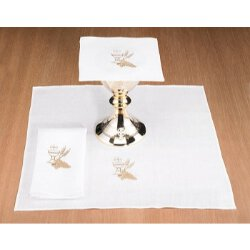 Poly/Cotton Blend Altar Appointment Set with Chalice and Wheat