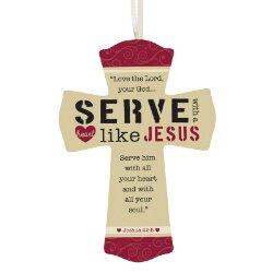 Serve with a Heart Like Jesus Cross - 12/pk