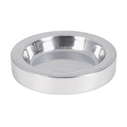 Polished Aluminum Communion Tray Center Bread Plate - Silver Tone